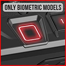 High resolution biometric scanner capable of storing 20 unique fingerprint IDs.