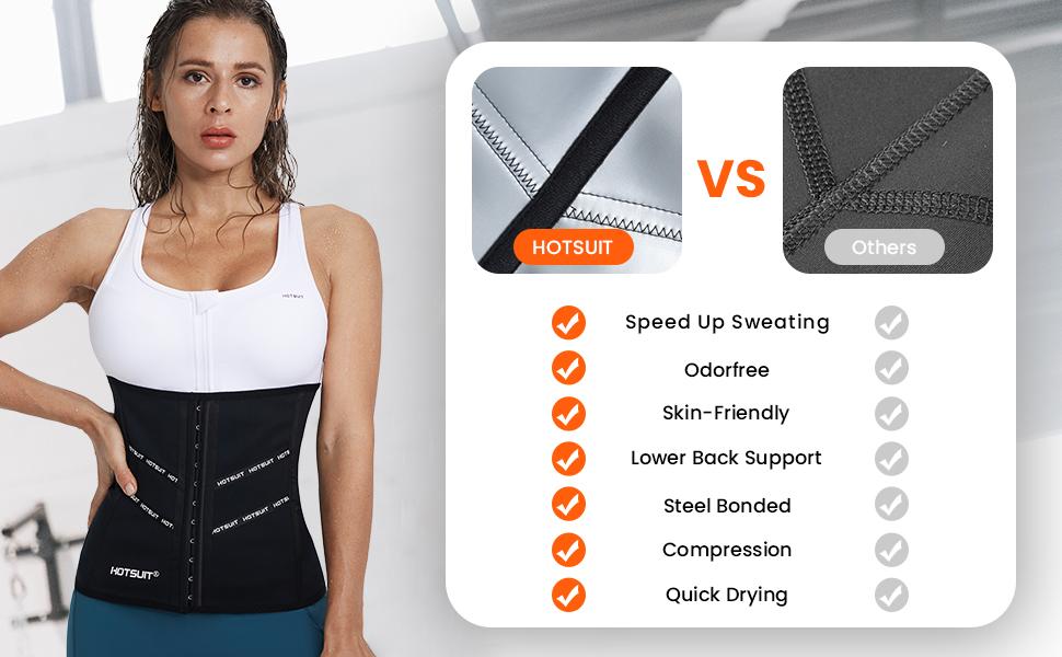 HOTSUIT sauna waist trainer workout