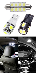 cciyu LED Interior Light Accessories Replacement Package Kit 11 Pack White Replacement fit for 2009-2017 Subaru Replacement fit forester