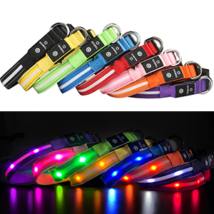 black light dog collar rechargeable led dog collar light up glow in the dark dog collars