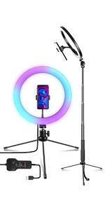 RGBリングライト 10インチ