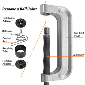 Heavy Duty Ball Joint Press amp;U Joint Removal Tools 4 Wheel Drive Adaptors 4 in 1 for Most 2WD