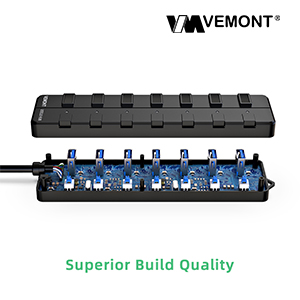 VEMONT 7-port USB 3.0 HUB