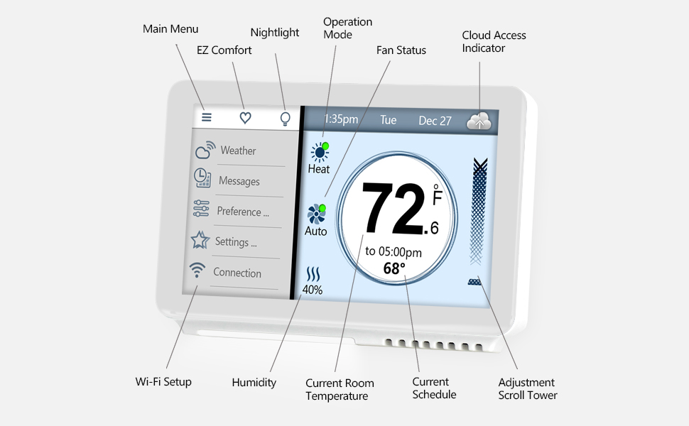 thermostat for home,lock,home improvement,wifi thermostat,alexa thermostat,remote sensor