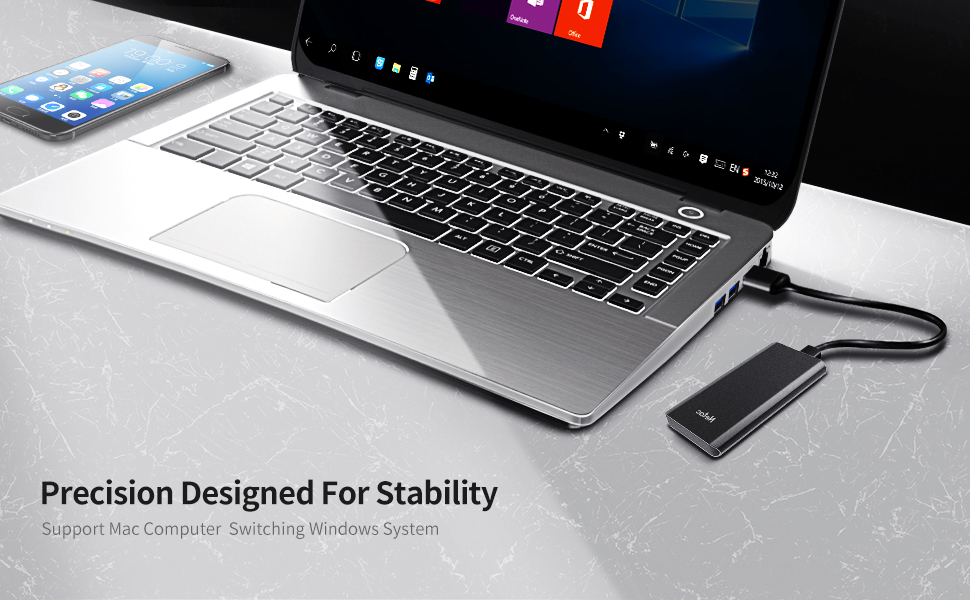 Netac ZX External SSD 1TB Portable Solid State Drive up to 980 MB//s Read Latop External Storage Compatible for Mac 10 Gbps, Type-C USB 3.2 Gen 2 Android Phones Black Tablet Desktop