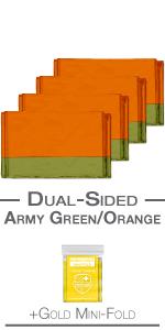 dual army green orange