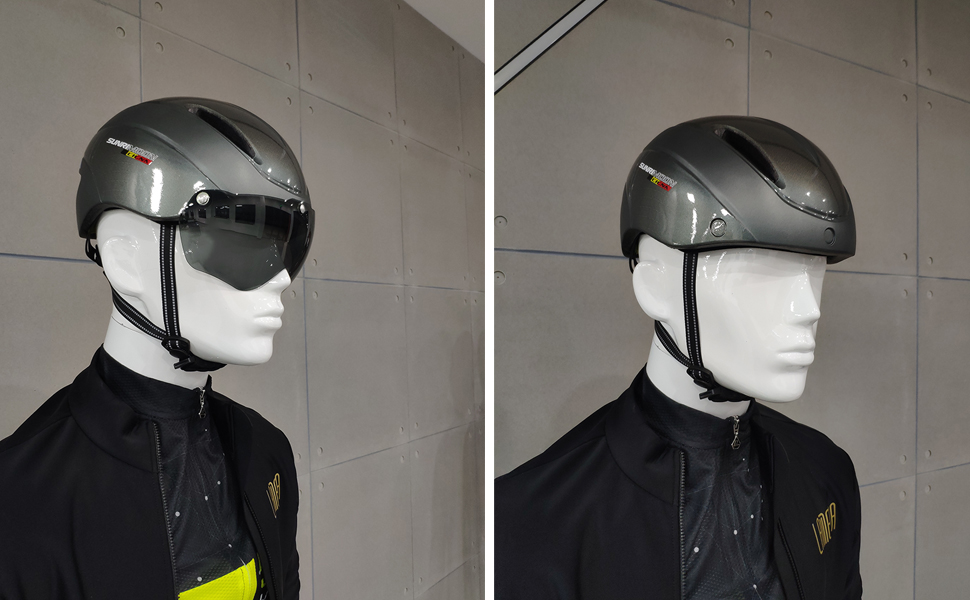 bike helmet with Magnetic Goggles