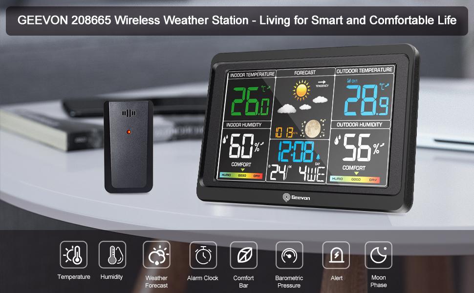 Geevon 208665 wireless weather station