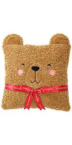 FAO Schwarz Curly Bear throw pillow