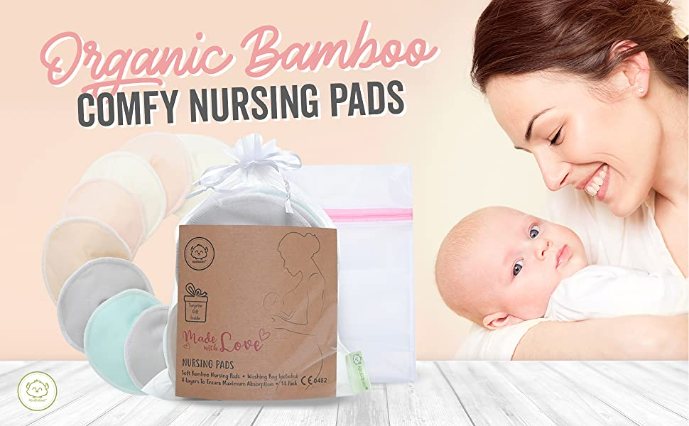 nursing bamboo bamboobies organic soft breastfeeding maternity nipplecovers pad pads nipple cover