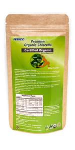 organic green superfood chlorella powder