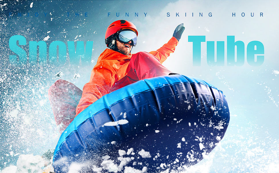 Snow Tube - Super Big 47 Inch Inflatable Snow Sled for Kids and Adults