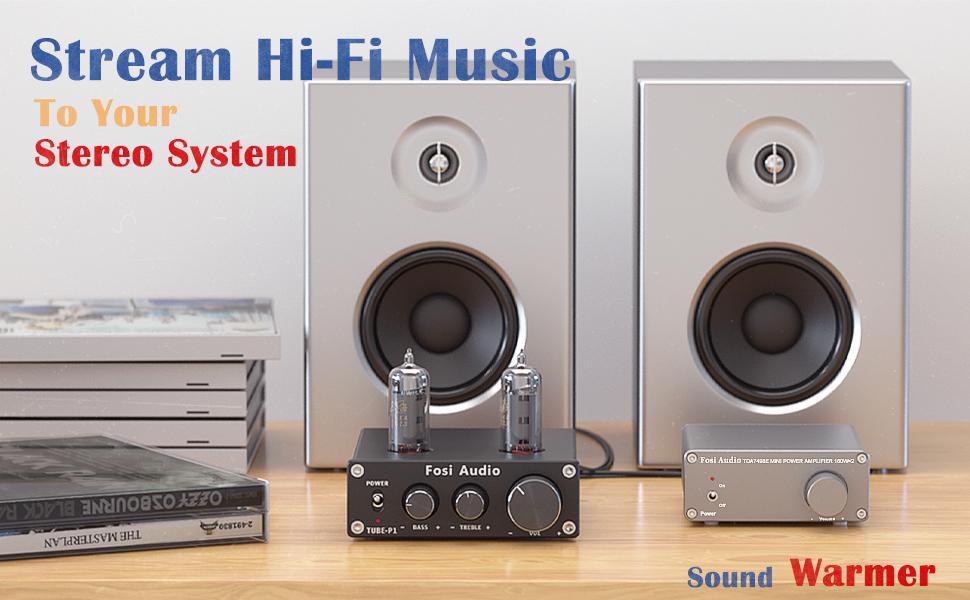 Tube Pre-Amplifier Mini Hi-Fi Stereo Buffer Preamp 6K4 Vacuum Pre-amp Treble Bass Tone Home Theater
