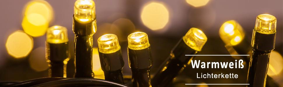 Lichterkette WISD 600 LED 63M Wei/ß Innen und Au/ßen LED Beleuchtung mit EU Stecker auf Transparent Kabel f/ür Weihnachten Garten Festival Party Hochzeit Dekoration Weihnachtsbaum Deko