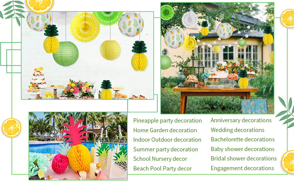 Pineapple party paper lanterns