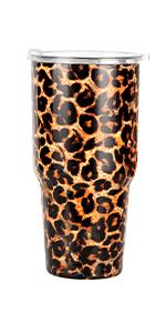 30 oz leopard tumbler