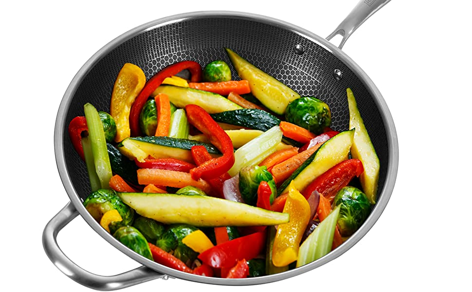 Stainless Steel Wokpan Lid frying pan cookware pans pot fry pan saucepan stockpot casserole dish