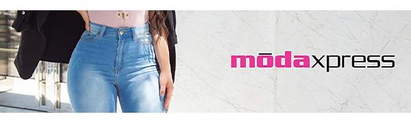 Moda Xpress logo - High Waisted and Butt Lifting Levanta Cola Jeans