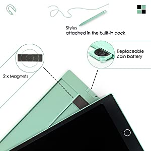 stylus magnets battery