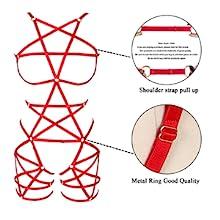 Harness Bra Set +Red