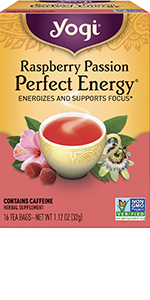 yogi tea raspberry passion perfect energy energizes and supports focus