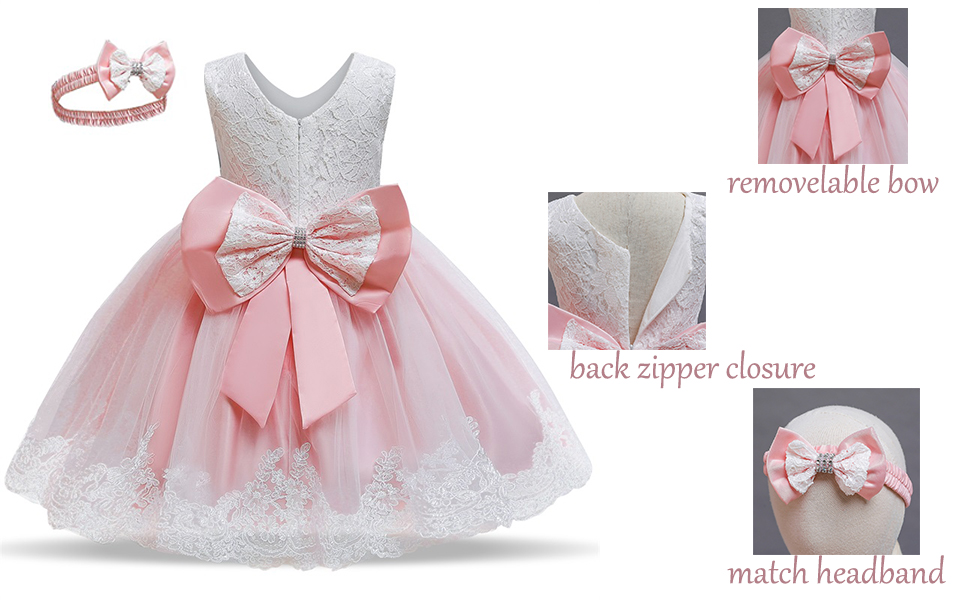 lace baby ball gown