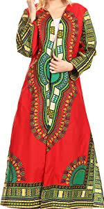 african akara long sleeve open front cardigan dress coat print long maxi loose casual event bride
