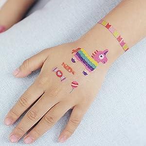 SZSMART Circo Tatuajes Temporales para Niños, Tatuajes Animales ...