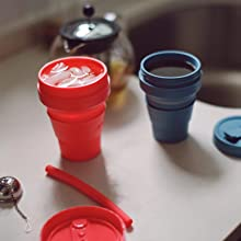 stojo dove 16oz collapsible silicone travel cup