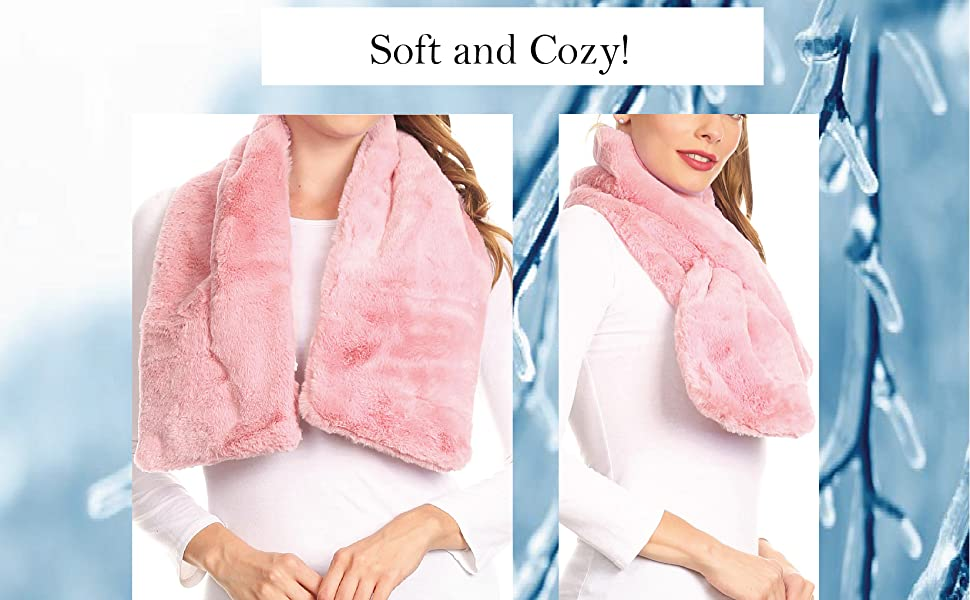 Fur Collar Cream Luxurious Faux Fur Softest Feel Silky Lined Scarf Stunning NEW