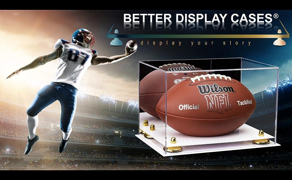 Better Acrylic Display Case Showcase Football Protect Model Statue Collectible Sports Memorabilia