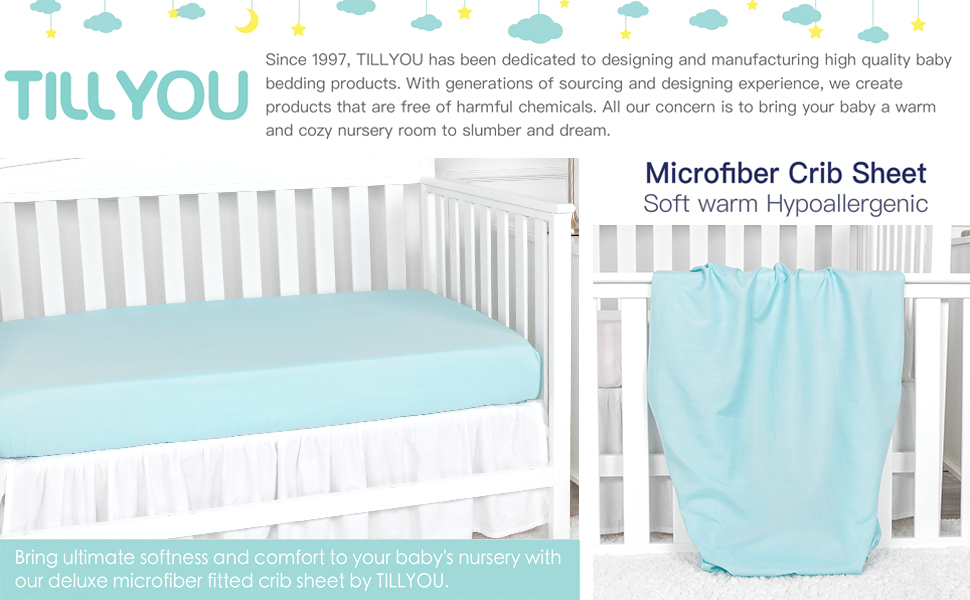 Hypoallergenic Silky Soft Crib Fitted Sheet /%100 Cotton