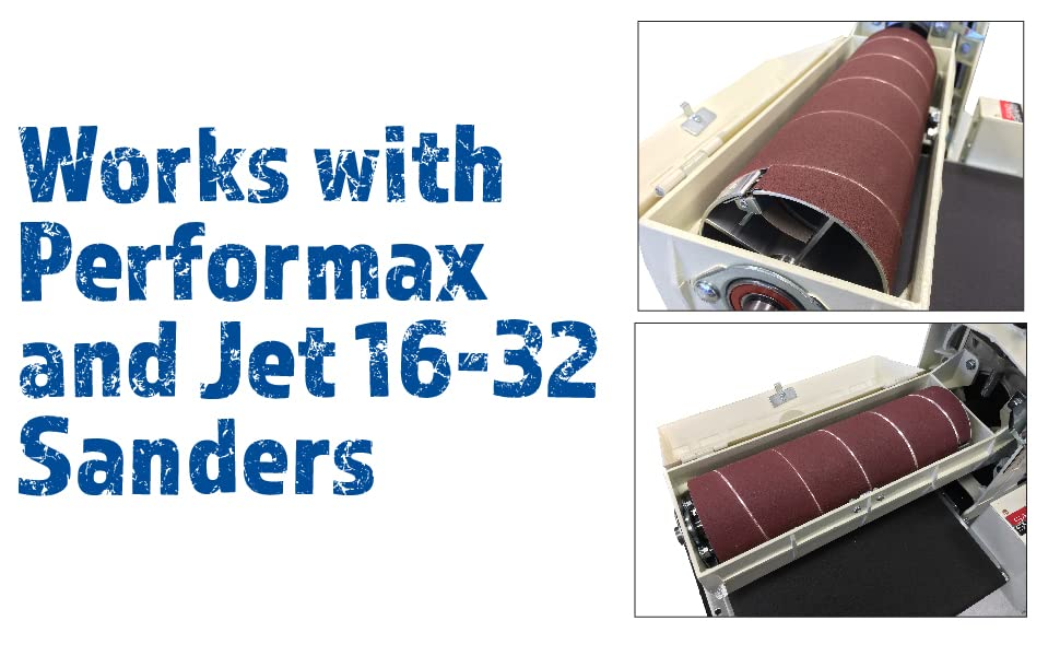 Performax 60-6180 180-Grit Ready-to-Wrap Abrasive Sandpaper