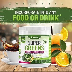 delicious green super food superfood supplements powder spirulina drink organic green powder blend