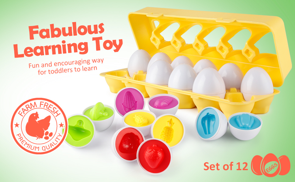 color matching egg set