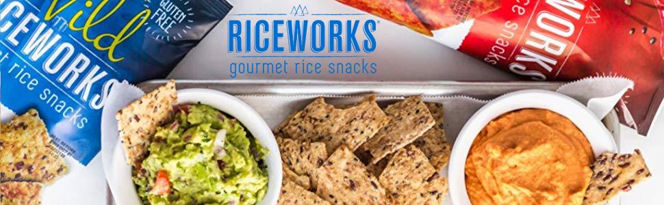wholesome goodness riceworks Sea Salt Black Sesame Gourmet Rice Snacks Gluten Free Chips