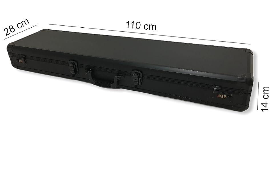Valigetta Valigia Custodia Rigida Porta Fucile Pistola Protettiva Alluminio Trasporto chiusura Cassa