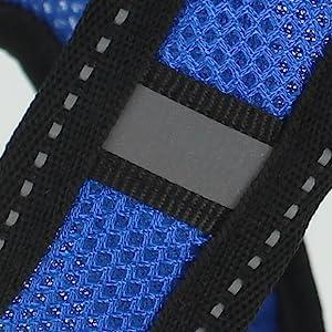 reflective stitching and stripe mesh harness