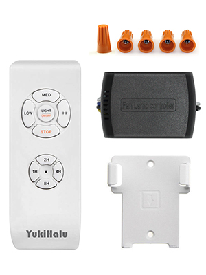 Yukihalu 3 In 1 Small Size Universal Ceiling Fan Remote Control Kit With Light And Timing Wireless Remote Control And Receiver Kits For Ceiling Fan Lamp Amazon Com