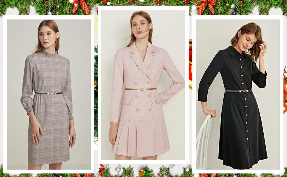 grace women leather skinny waist belt