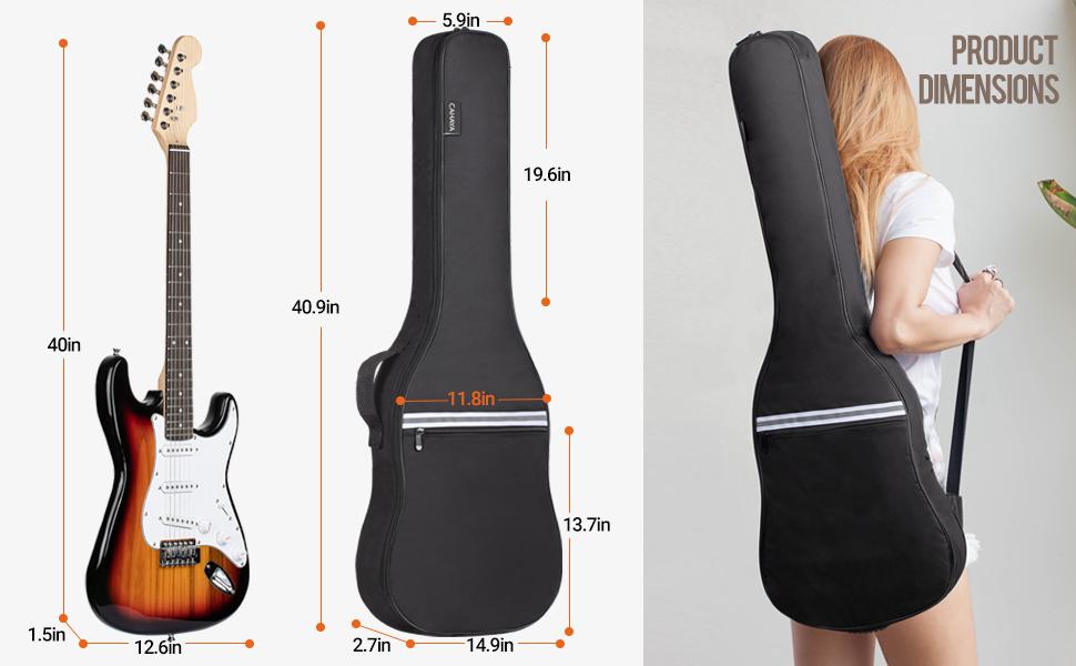 CAHAYA electric guitar bag soft gig bag guitar case backpack padded