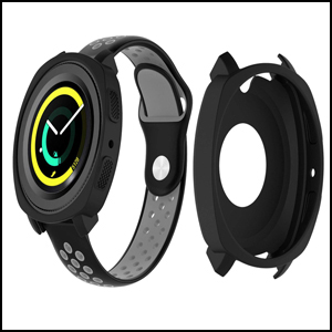 Silicone Protective Frame Shock Resistant Case Cover for Samsung Gear Sport R600 Smart Watch