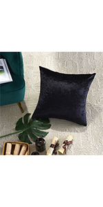 decorative black throw pillow cover