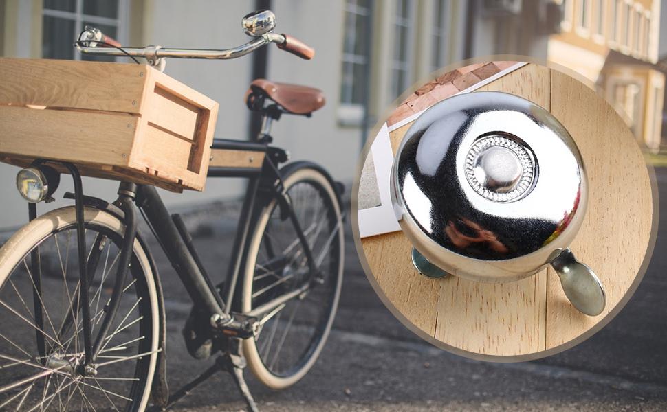 1 stück Fahrrad Retro Englisch Glocke Klingeln Glocke Aluminium Metall Fahrr SP