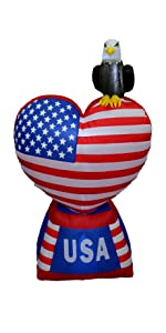 Patriotic uncle sam holiday décor blow ups decorations 4th of july memorial day up yard inflatables