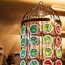 Multi-functional, table and wall sculpture, for coffee pod display, organier.