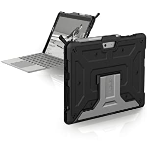 Surface Go Case, Heavy Duty, Tough, Pencil Holder, Stand, Light, keyboard compatible, Protective