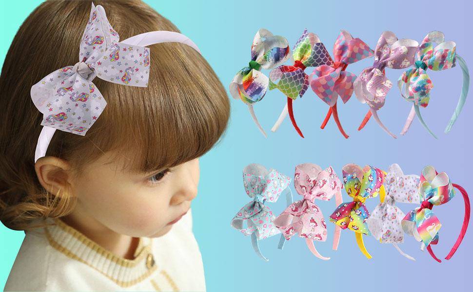 Headbands Collection Unicorn Bow Headband