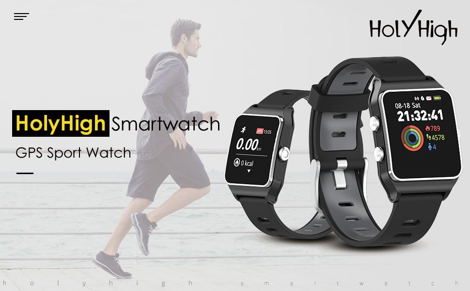 HolyHigh GPS Sports Watch Waterproof Smart Watches
