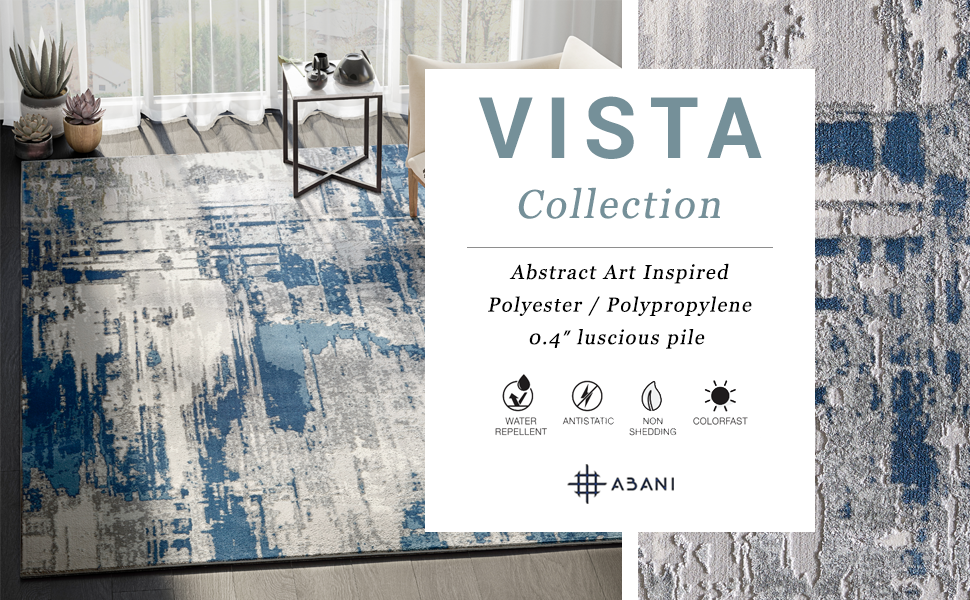 Abani Vista Collection abstract machine made rugs